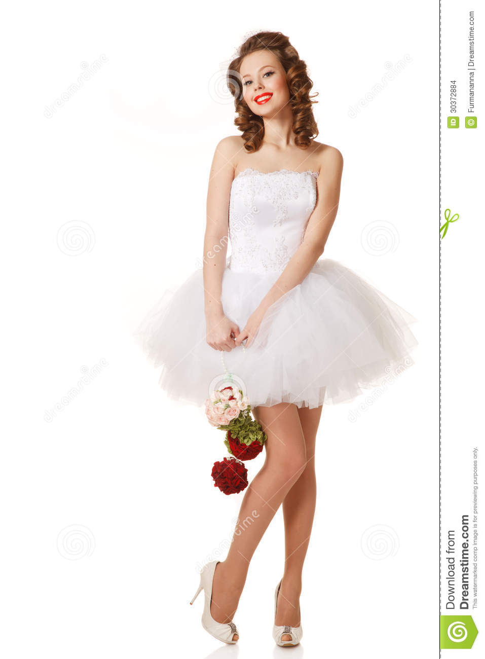 Pin Up Bride Stock Photo Image Of Happiness Elegance 30372884
