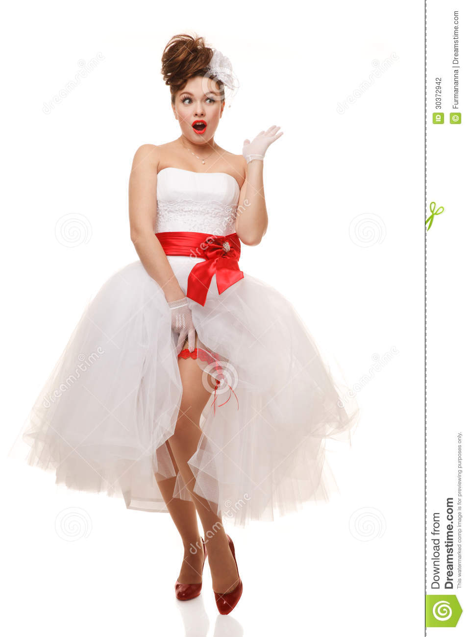 Stock Photography Pin Up Bride Image 30372942