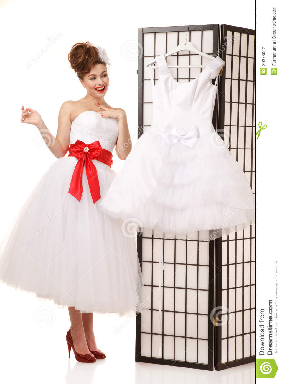 Pin Up Bride Stock Photo Image Of Girl Cheerful Dress 30373002