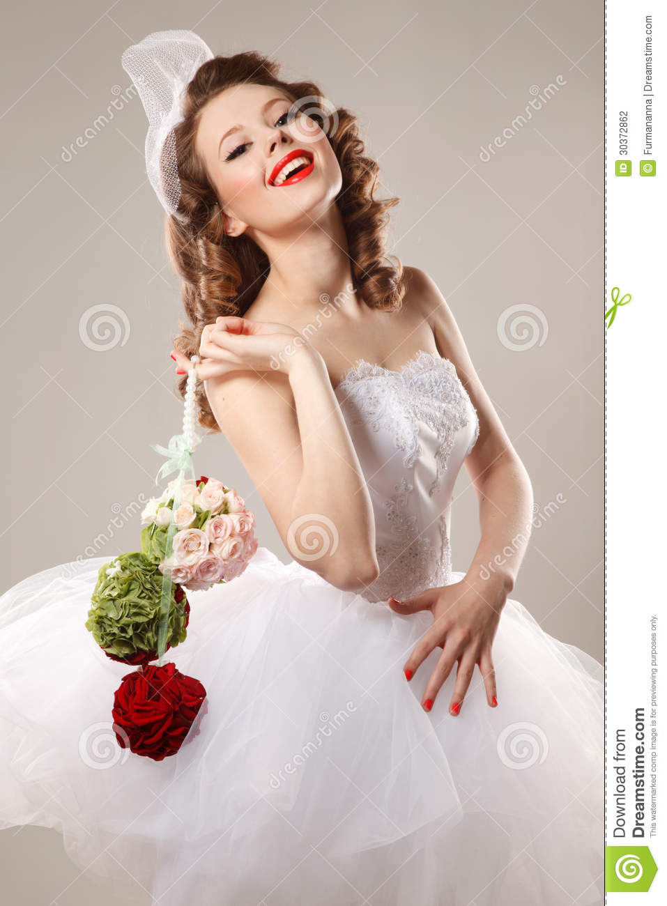 pin up bride stock photo image of glamour concepts 30372862. Black Bedroom Furniture Sets. Home Design Ideas