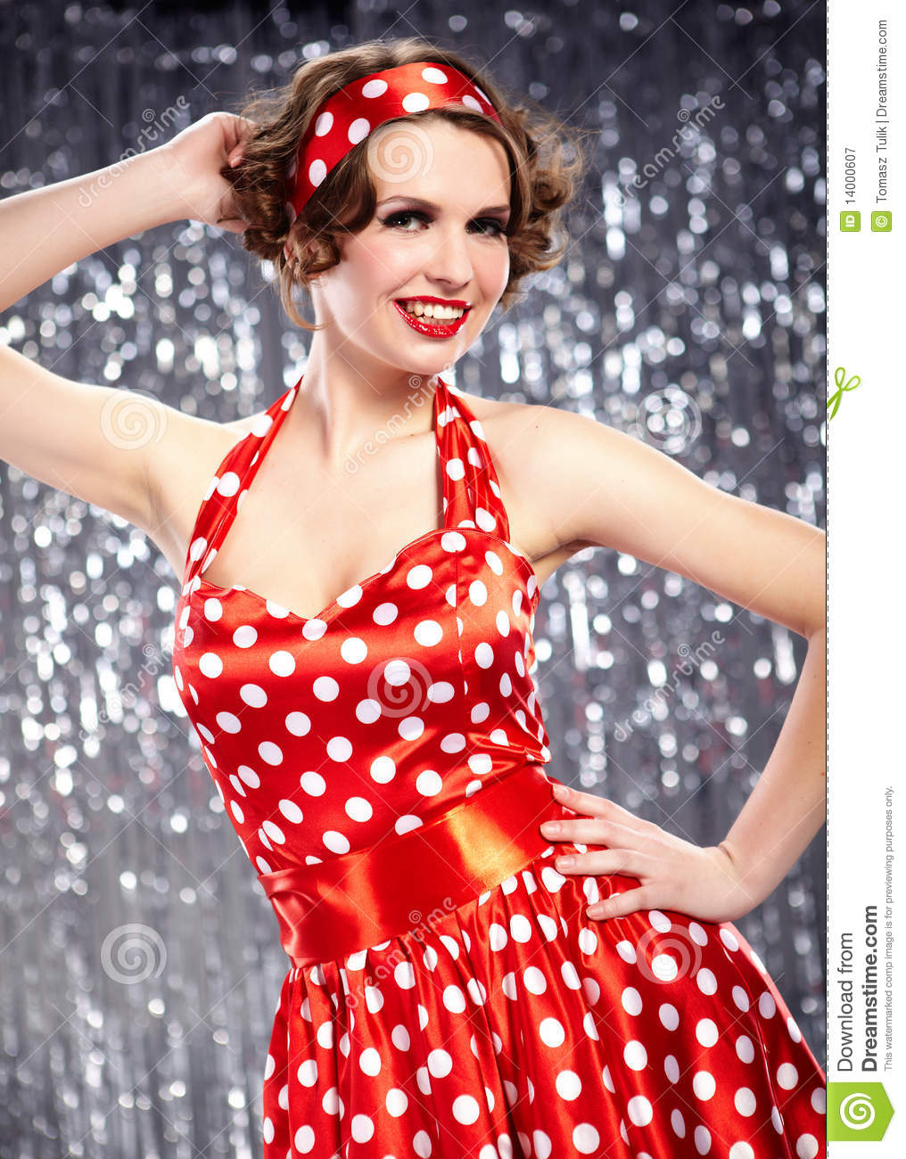 Pin Up Girl American Style Stock Image Image 14000607