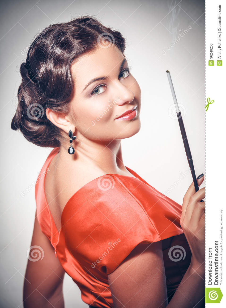 Pin Up Girl American Style Stock Photo Image 36240250