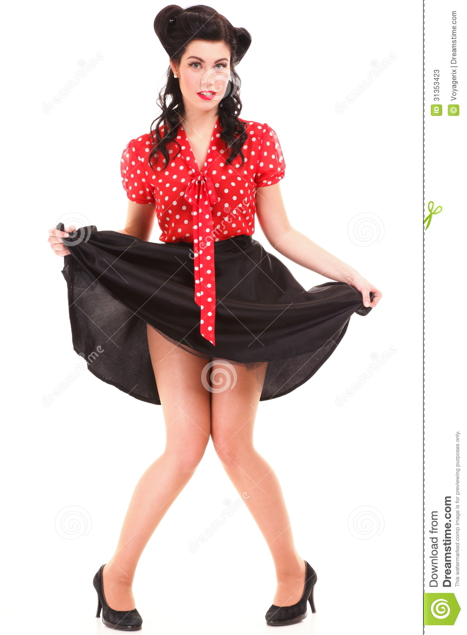 Pin up girl american style retro woman stock photos image 31353423 - Pin up style ...