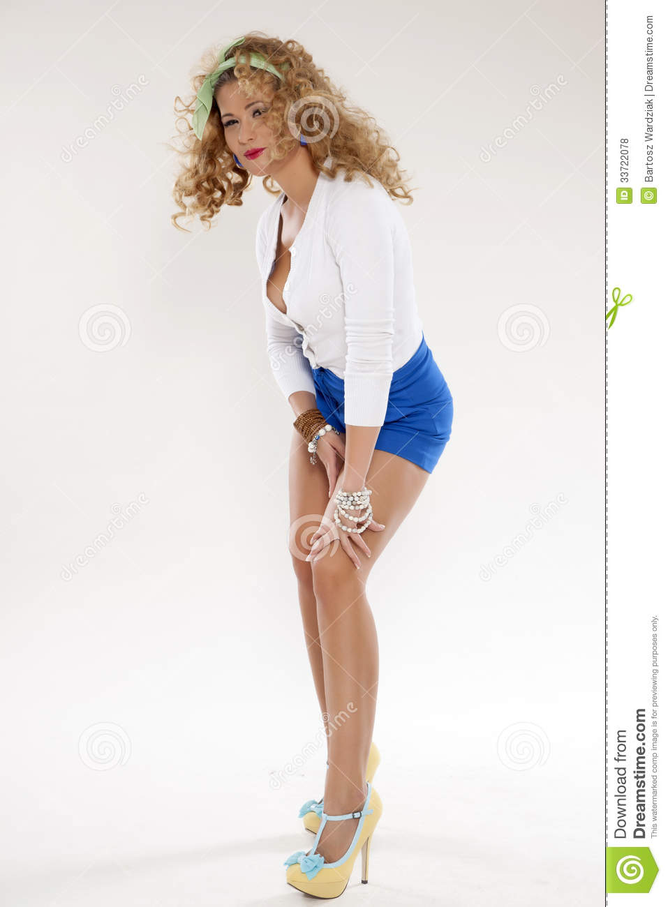 Pin Up Girl Royalty Free Stock Photos Image 33722078
