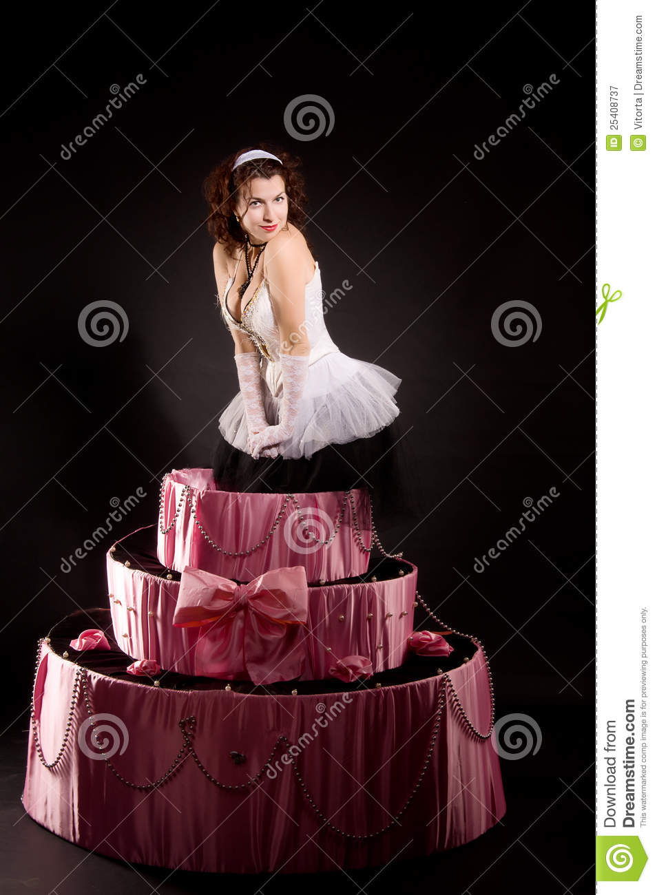 Remarkable Pin Up Girl Jumping Toy Cake Stock Image Image Of Skirt Jumping Funny Birthday Cards Online Sheoxdamsfinfo