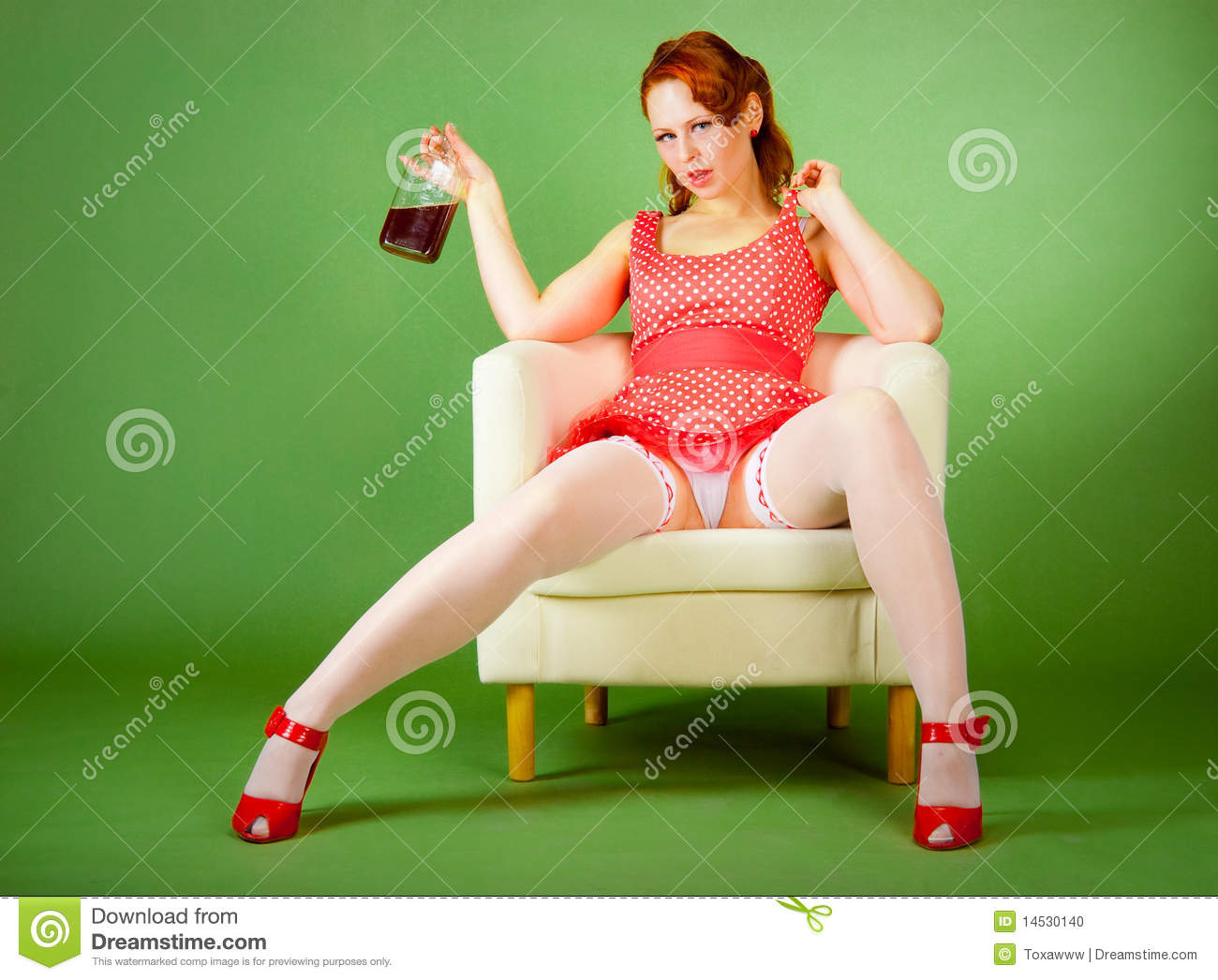 Pin-up Style Girl Stock Photo - Image: 14530140