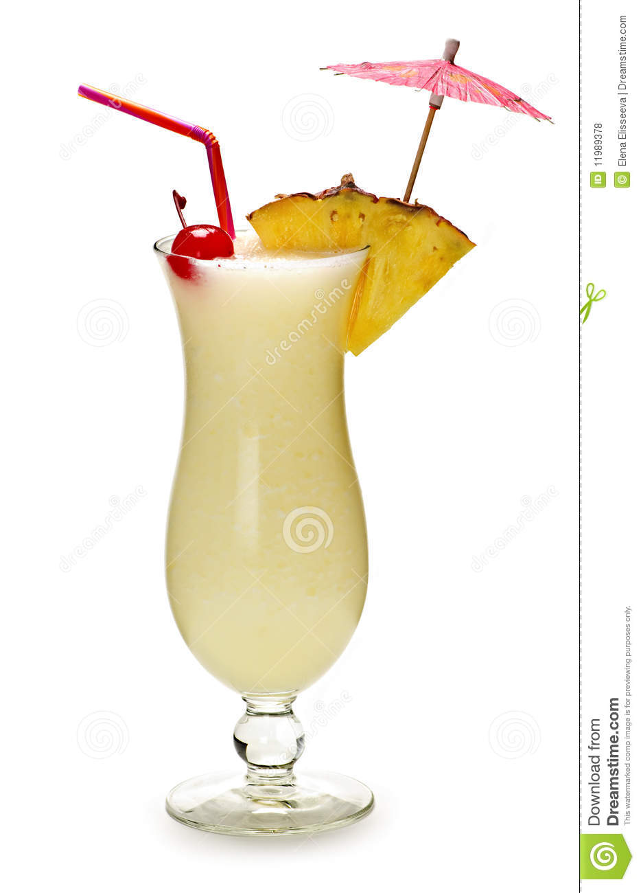 Pina colada cocktail stock photo image of colada for Cocktail pina colada