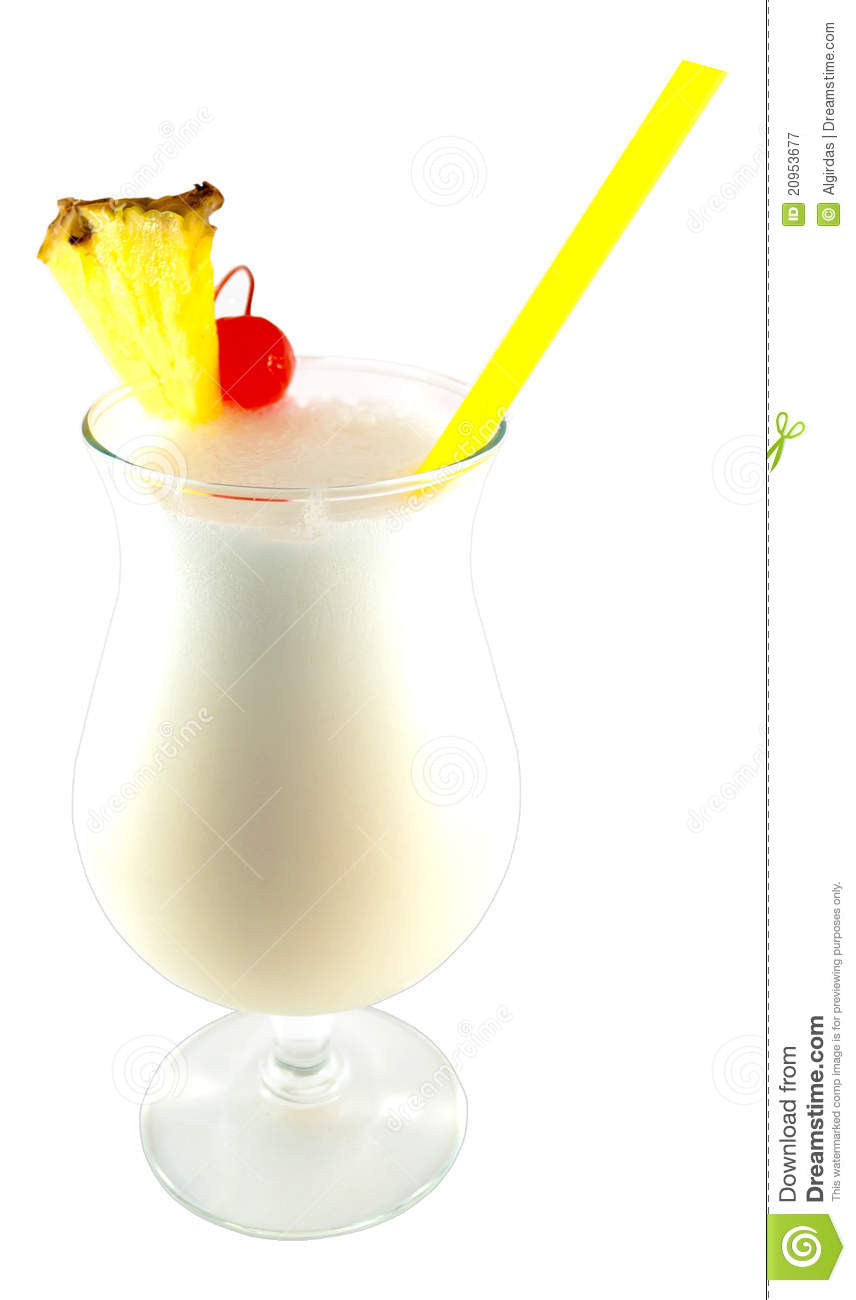Pina colada cocktail stock image image of refreshing for Cocktail pina colada