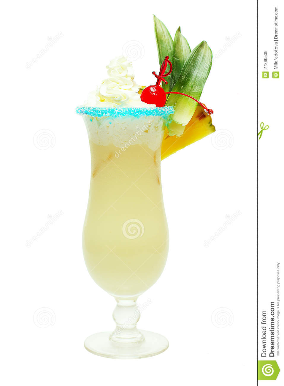 Pina colada cocktail royalty free stock images image for Cocktail pina colada
