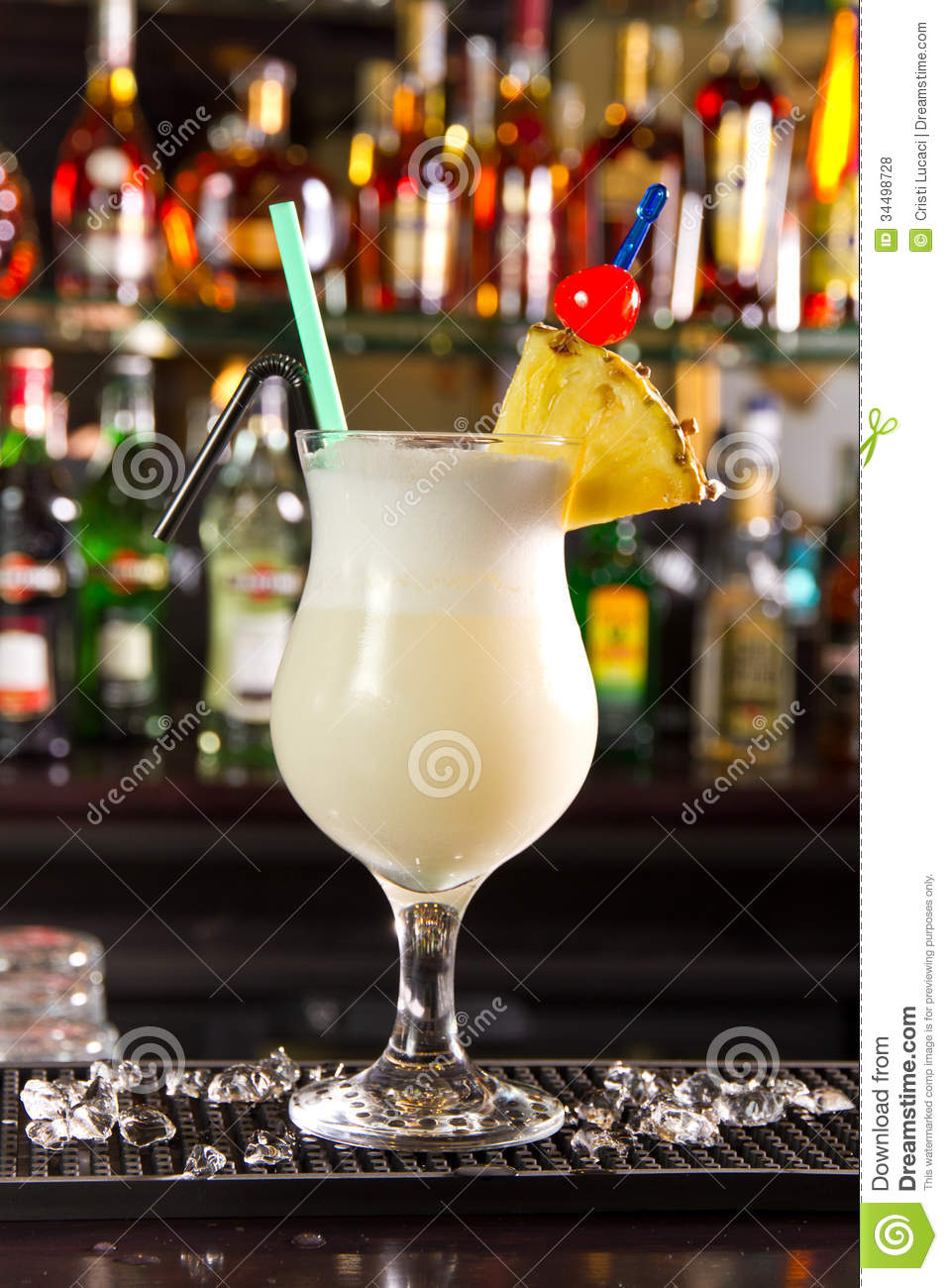 Pina colada stock photo image of lifestyle fruit for Cocktail pina colada