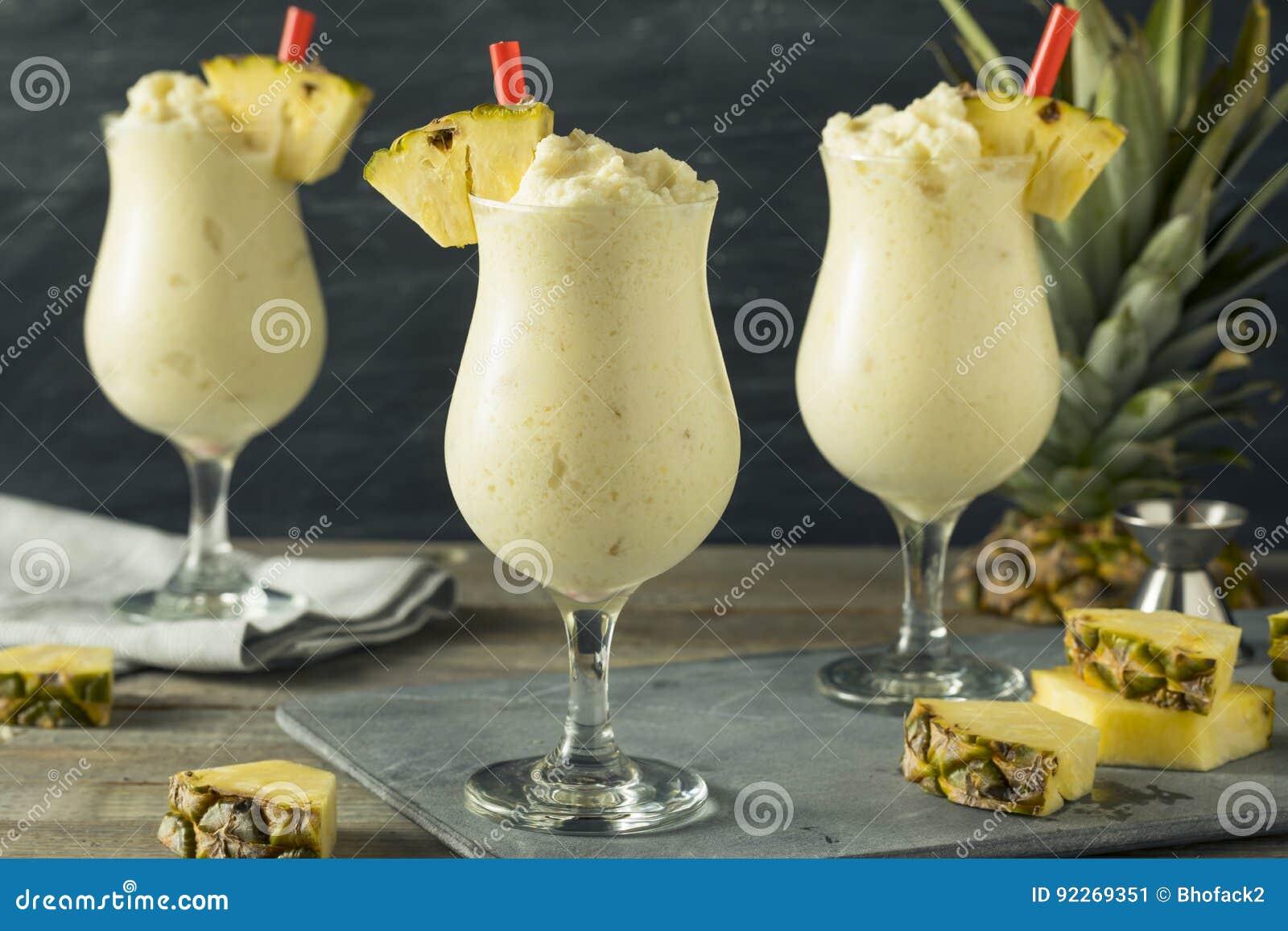Pina Colada Cocktail congelée faite maison