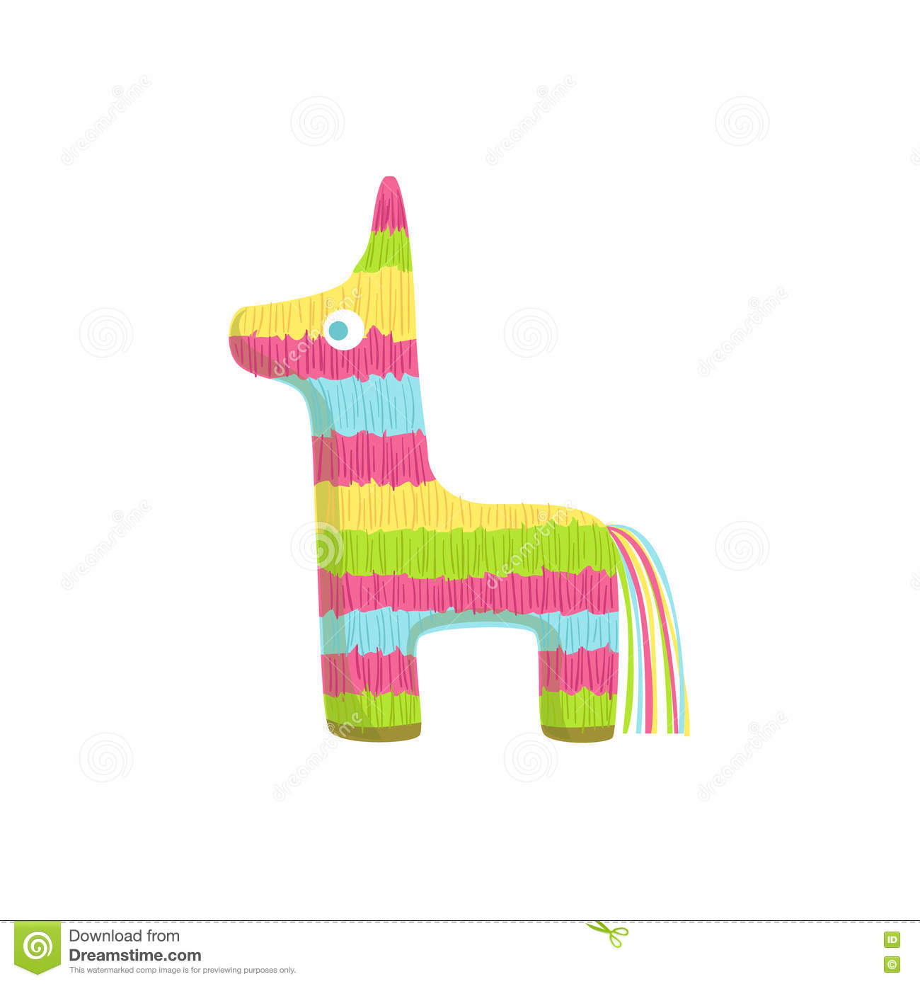 pinata mexican culture symbol stock vector image 80147368