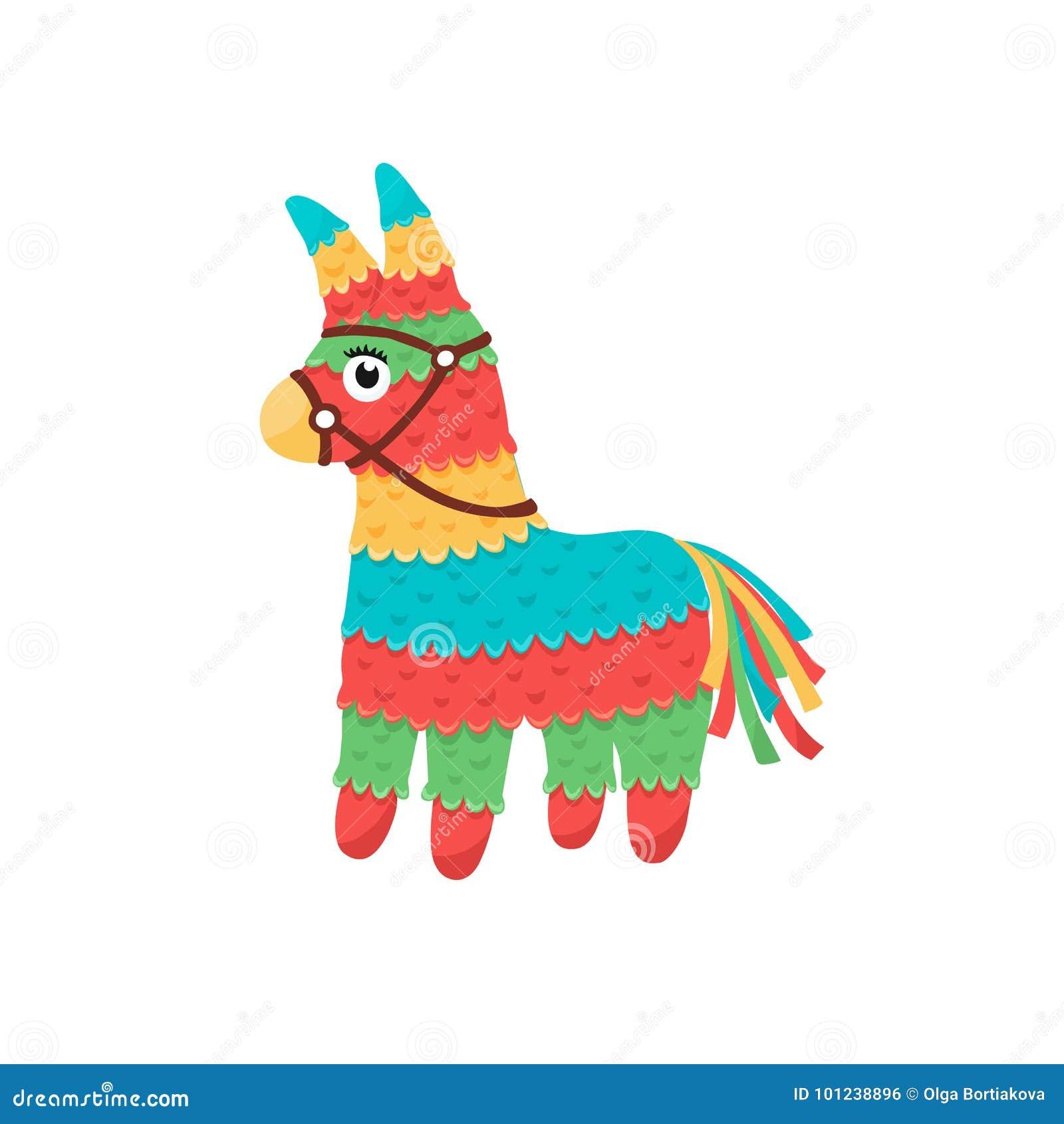 Pinata mexicano isolado