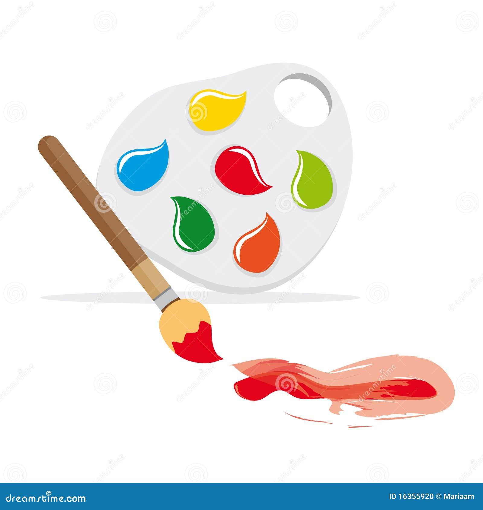 pinceau et palette de couleur photo stock image 16355920. Black Bedroom Furniture Sets. Home Design Ideas