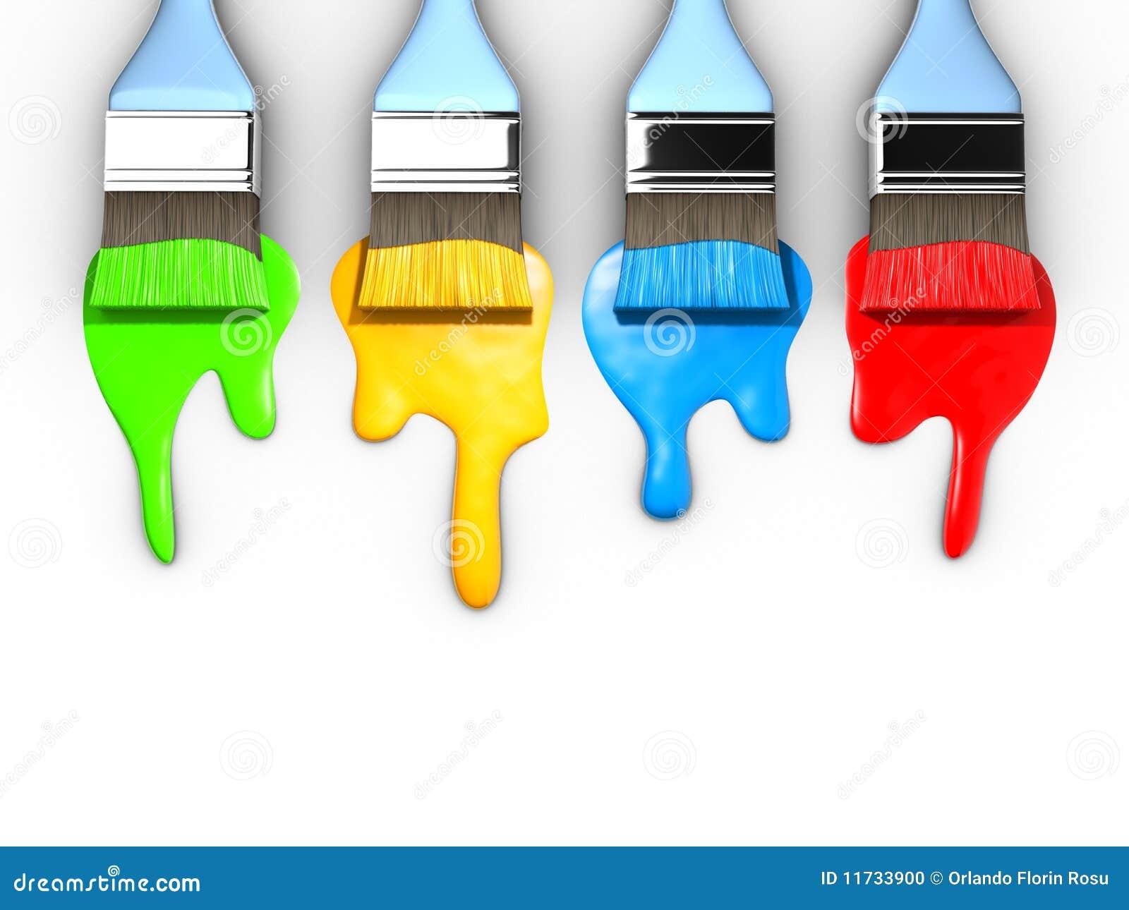 pinceau et peinture photo stock image 11733900. Black Bedroom Furniture Sets. Home Design Ideas