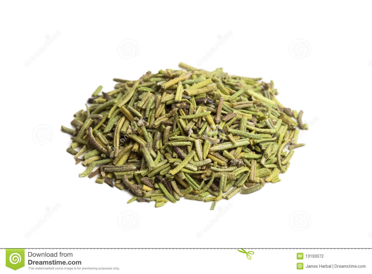 Pinch Of Dried Rosemary Stock Photography - Image: 13193072