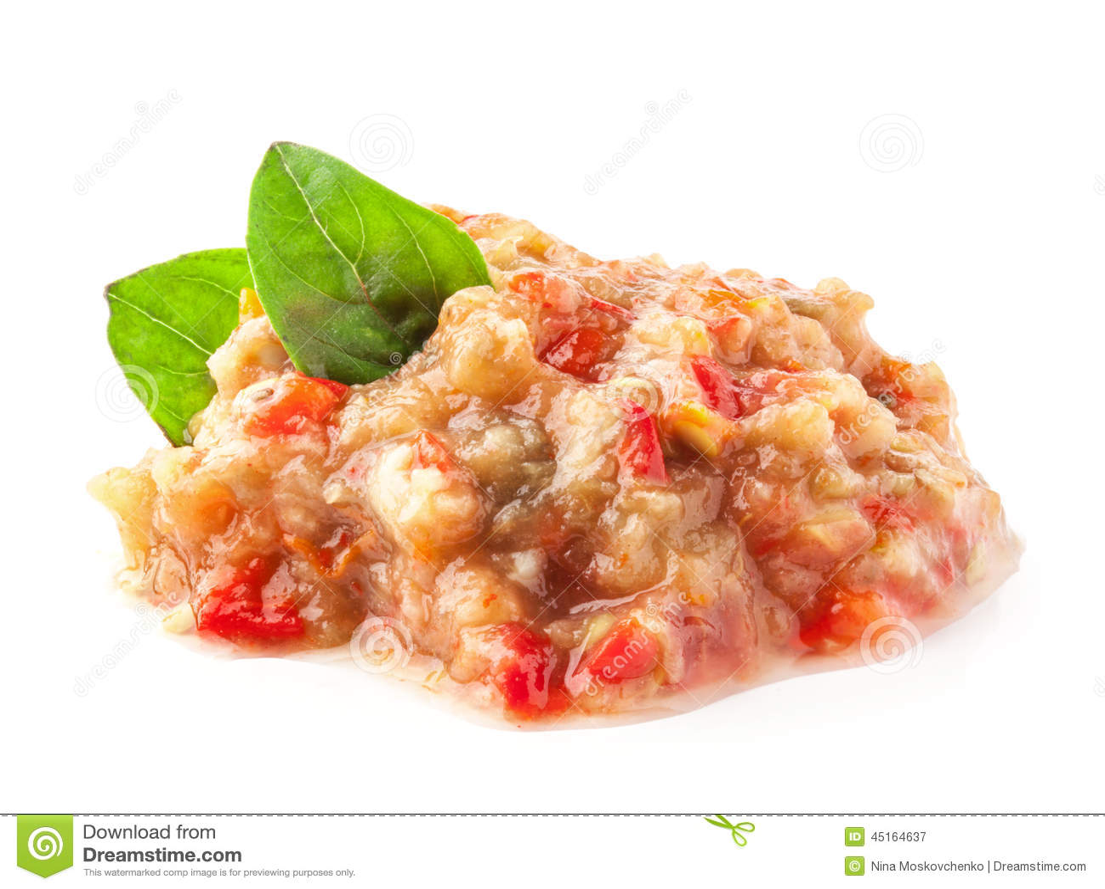 Pindjur - salada com beringela roasted, tomates e pimenta doce