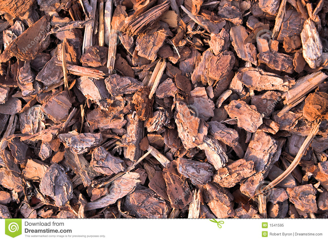 pine bark mulch stock image image of decoration material 1541595. Black Bedroom Furniture Sets. Home Design Ideas
