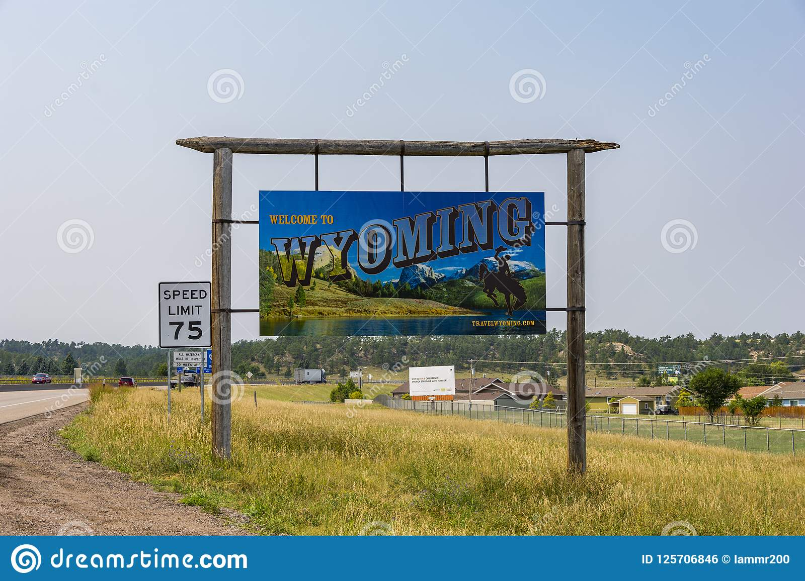 Pine Bluffs Wy >> Welcome To Wyoming Editorial Photo Image Of Travel 125706846