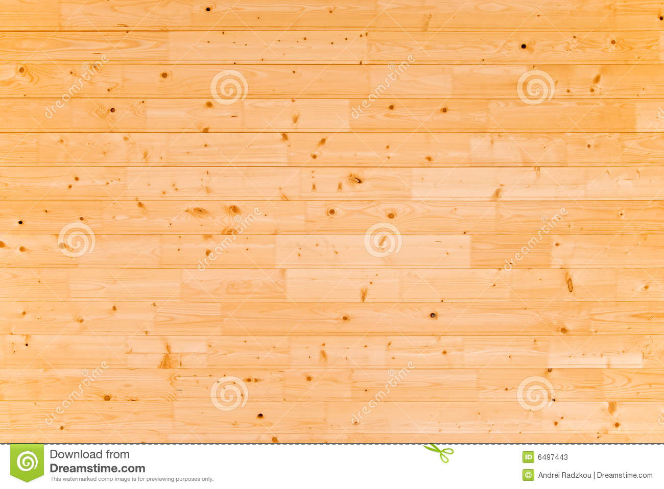 The wall of pine planks.