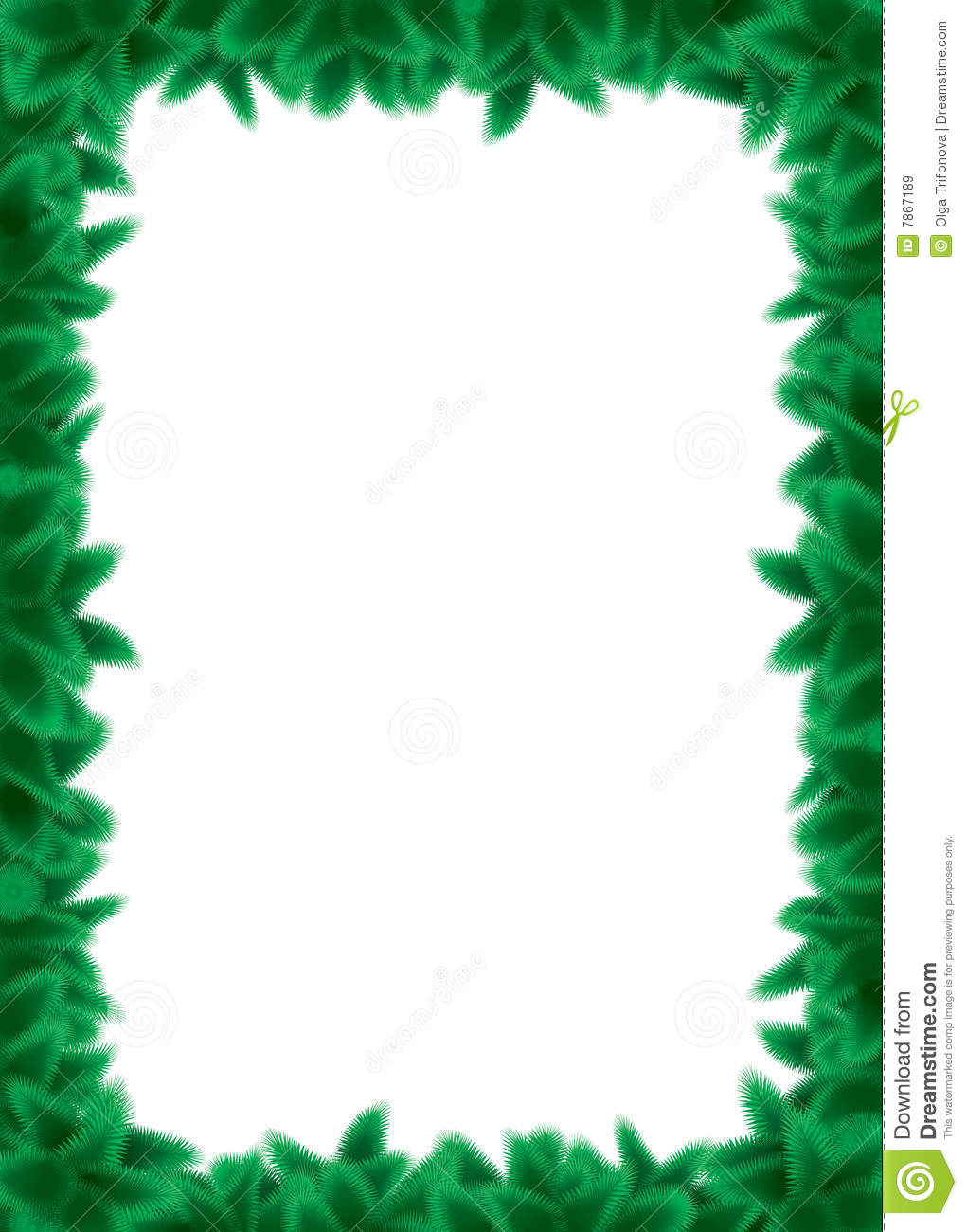 Pine Branch Border Royalty Free Stock Images - Image: 7867189