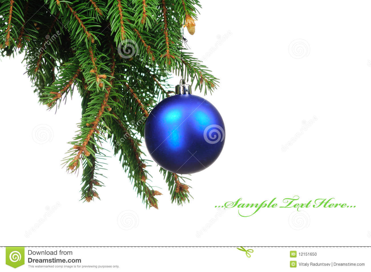 Pine Branches For Decoration Pine Branches And Christmas Decoration Stock Photo Image 12151650