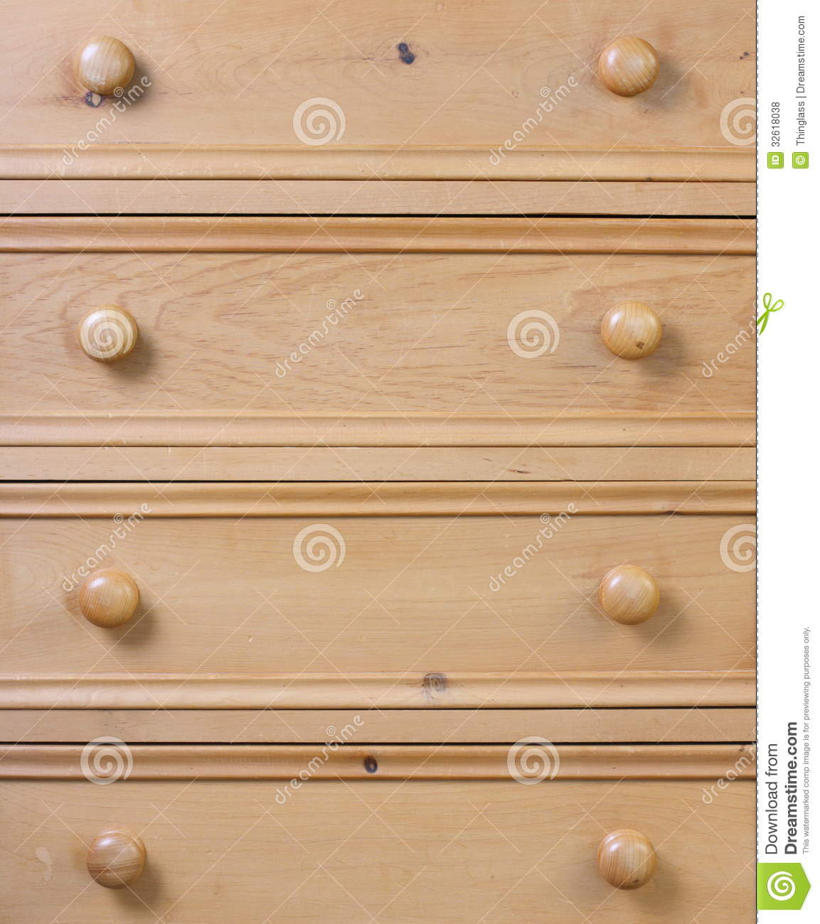 Pine Chest Of Drawers Stock Photo Image Of Detail Texture 32618038