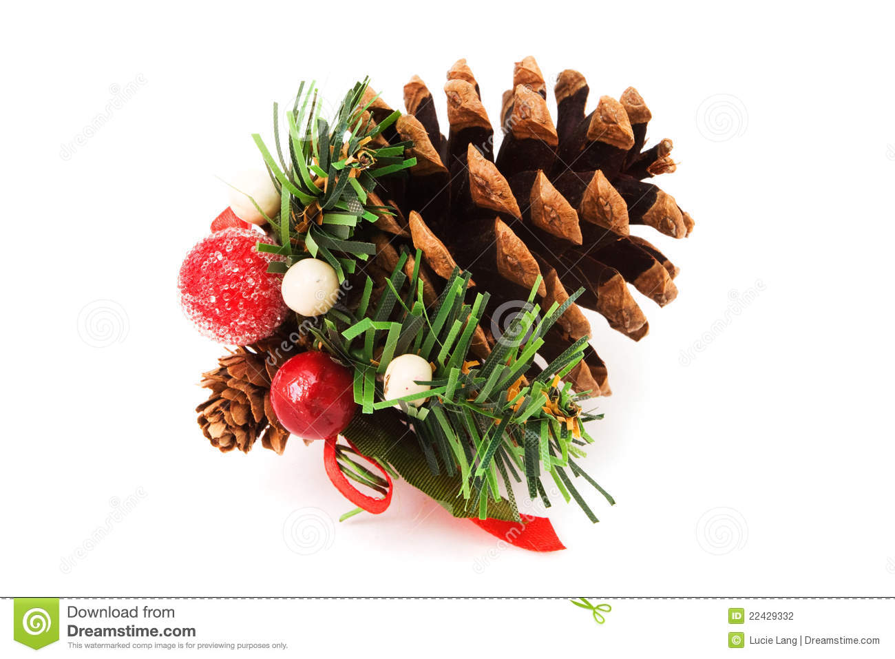 pine cone christmas decoration stock photography - Decorating Large Pine Cones For Christmas