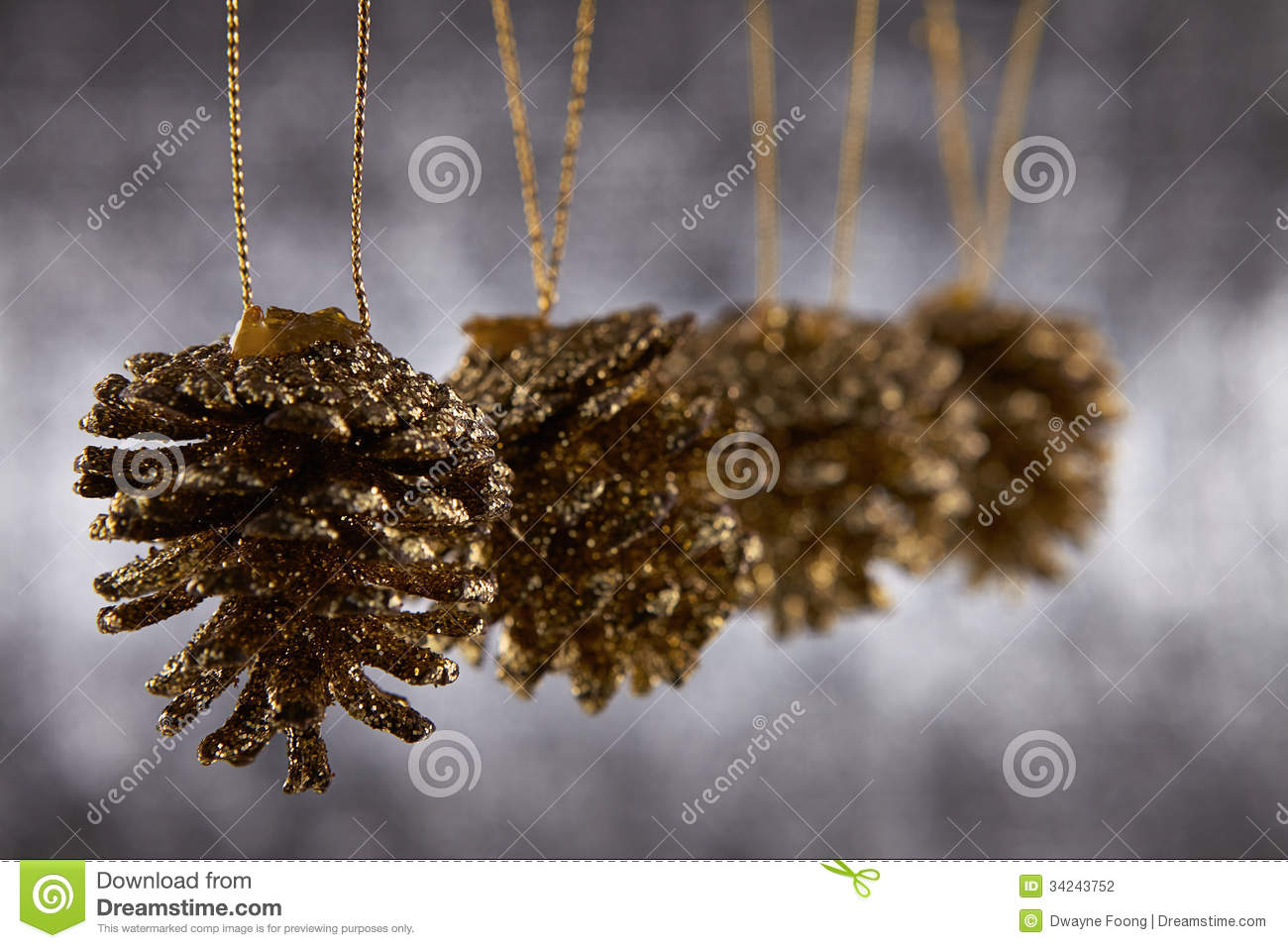 Pine Cone Christmas Decorations Pine Cone Stock Photography Image 34243752