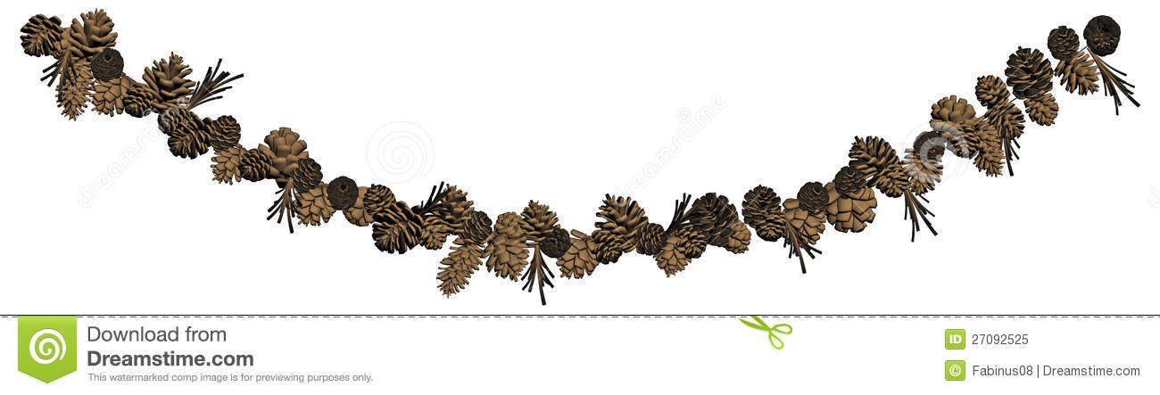 royalty free stock photo pine cone garland decoration pine cone clip art free pine cone clip art free