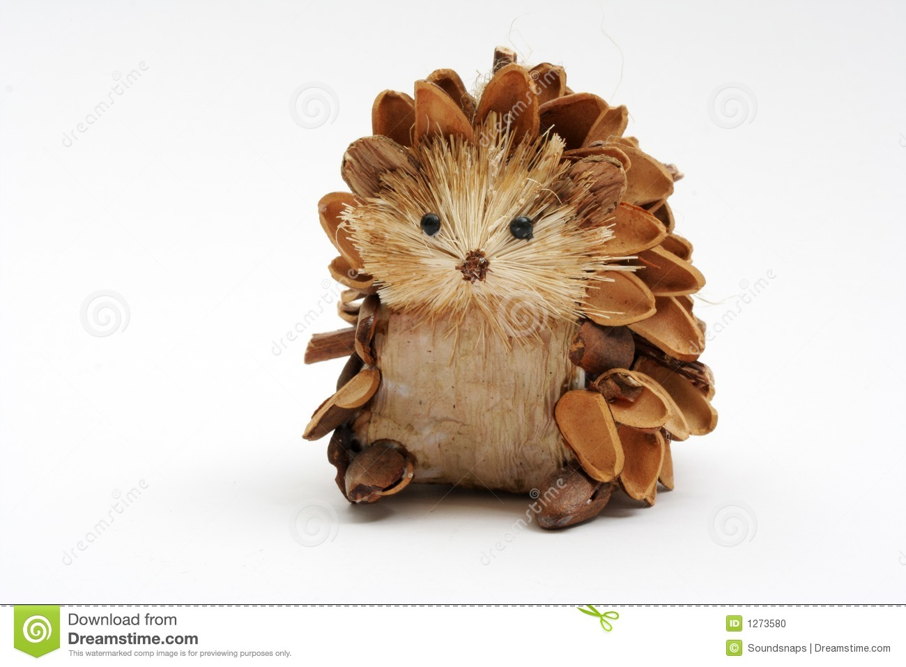 Pine Cone Hedgehog Stock Photo Image Of Seasonal