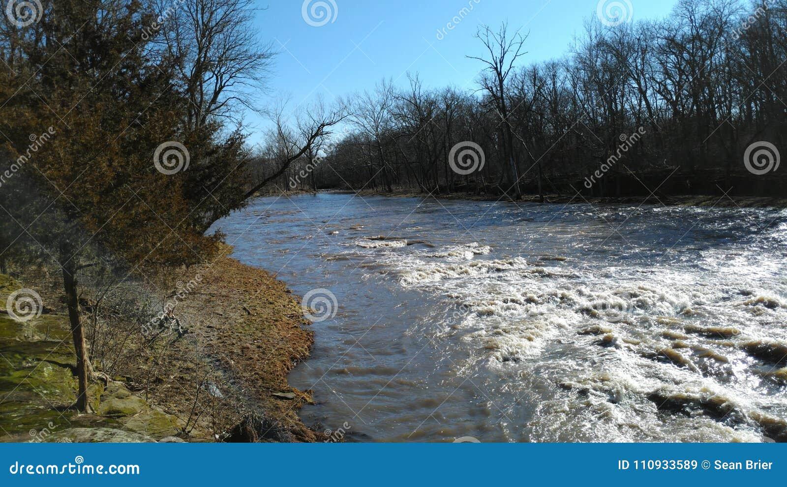 Pine creek a warm beautiful February day