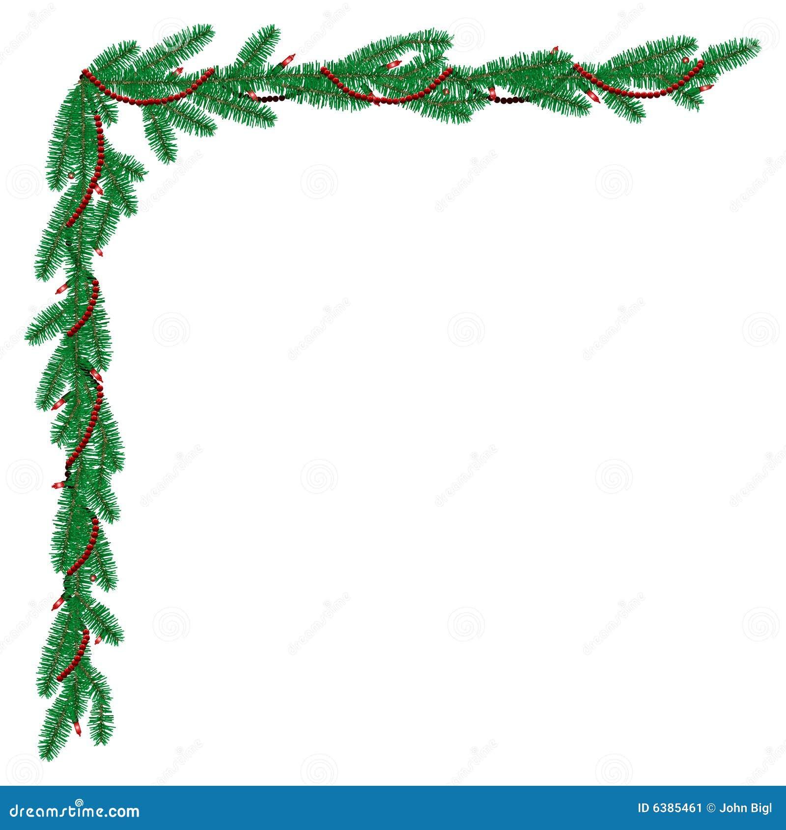 More similar stock images of ` Pine garland corner border `