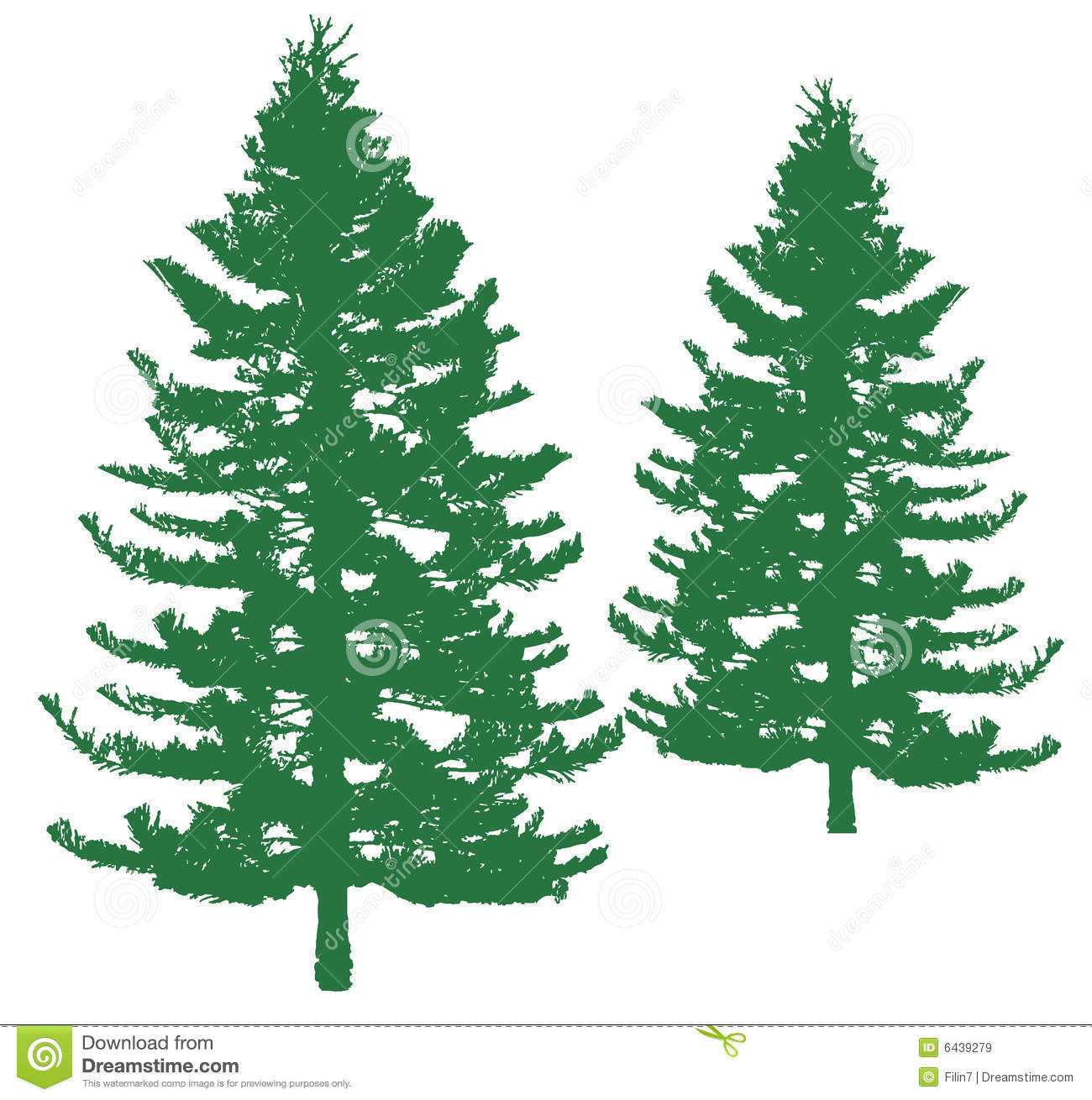 Simple Pine Tree Drawings