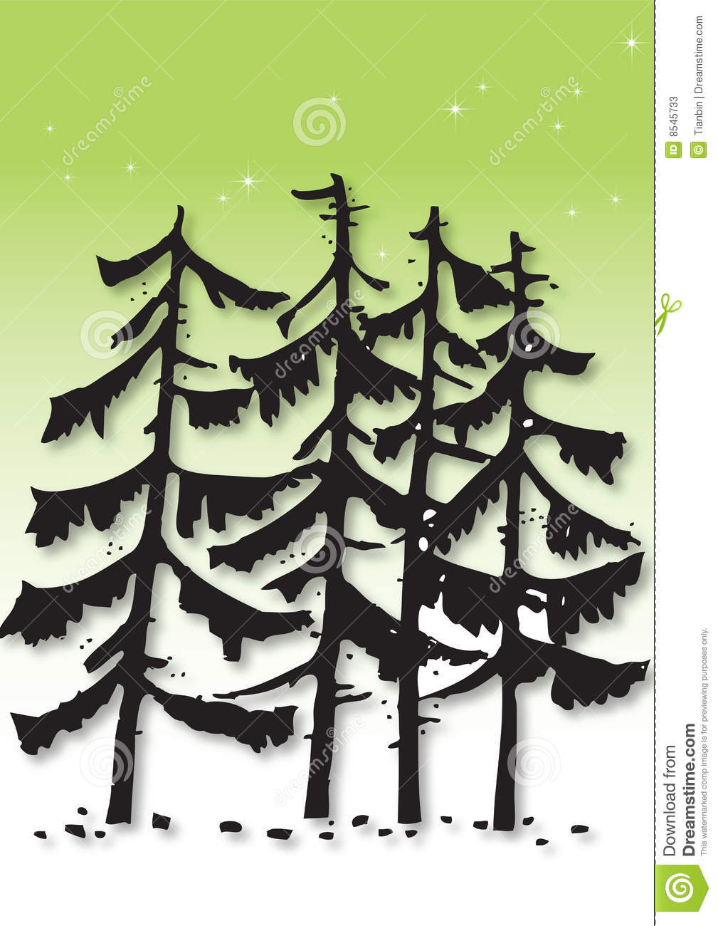 Pine Tree Stencil Pine tree illustration
