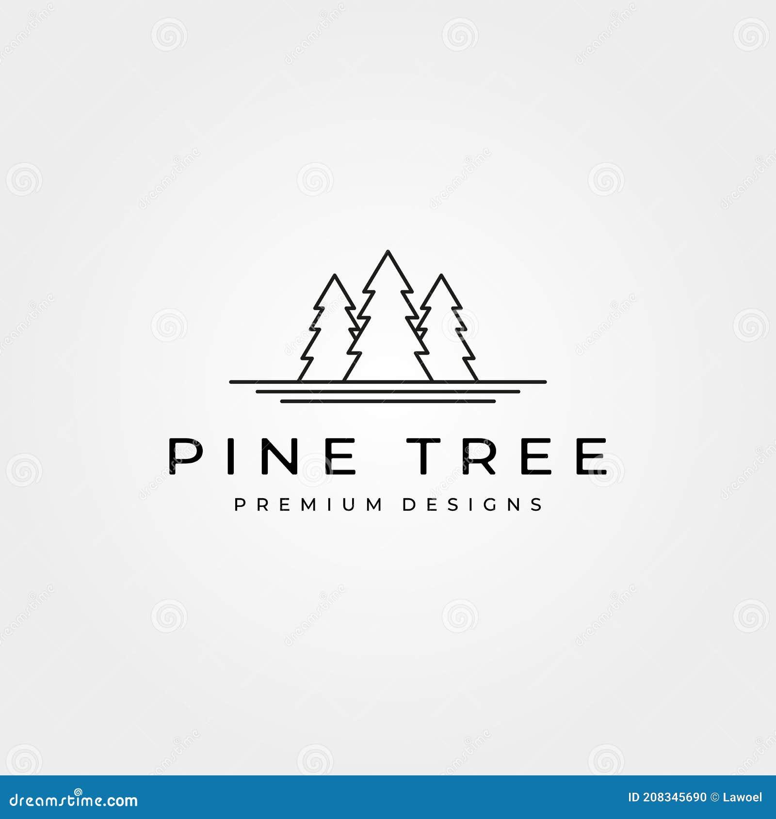 Pine Tree Line Art Stock Illustrations – 20,3020 Pine Tree Line Art ...