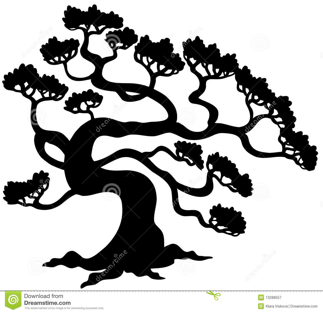 Pine Tree Silhouette Royalty Free Stock Photography - Image: 13288557