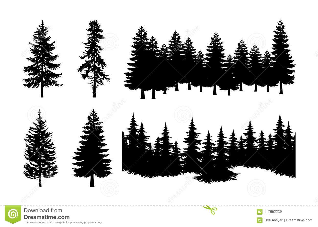 Pine Tree Silhouette Stock Illustrations 32 754 Pine Tree Silhouette Stock Illustrations Vectors Clipart Dreamstime