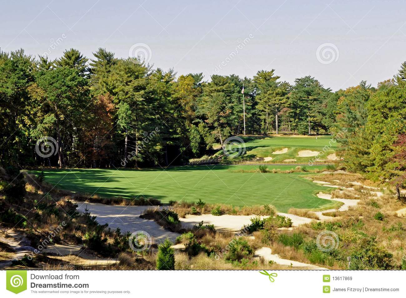 Pine Valley Finish stock image. Image of competition ...