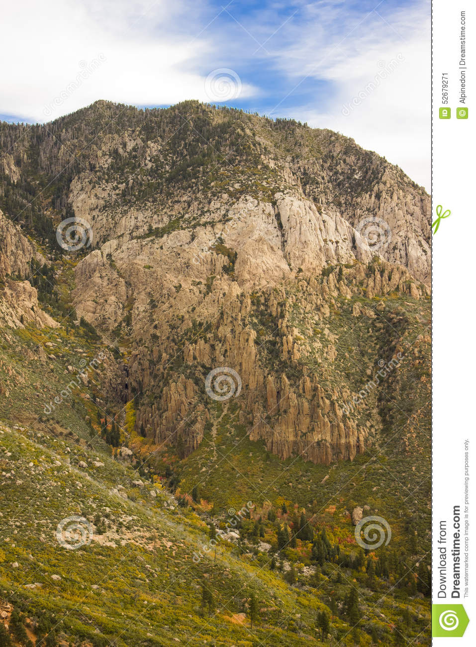 Pine Valley Mountains 2 stock image. Image of ascent ...