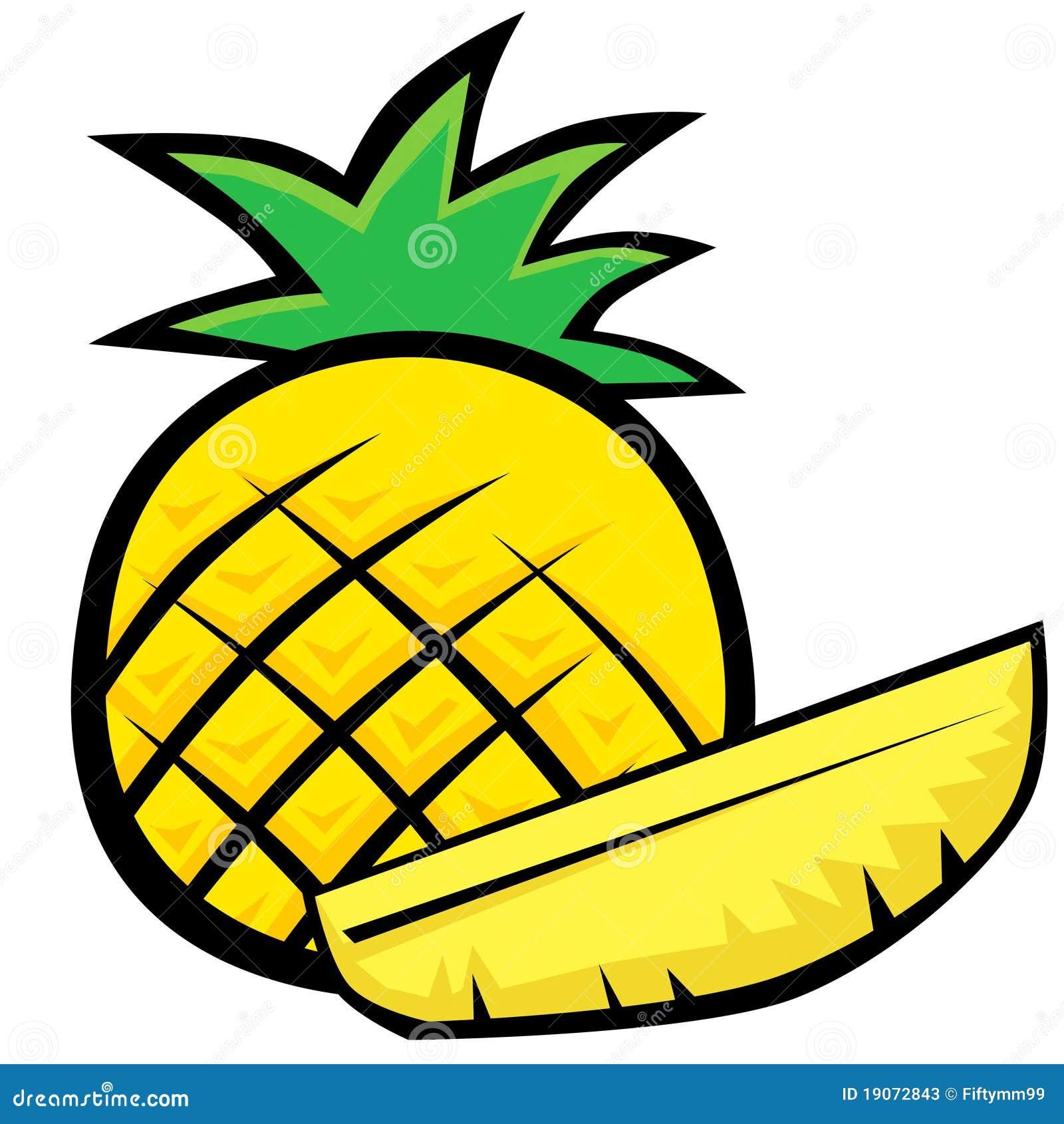 pineapple stock illustration illustration of food design 19072843 rh dreamstime com clipart pineapple outline clipart pineapple slice