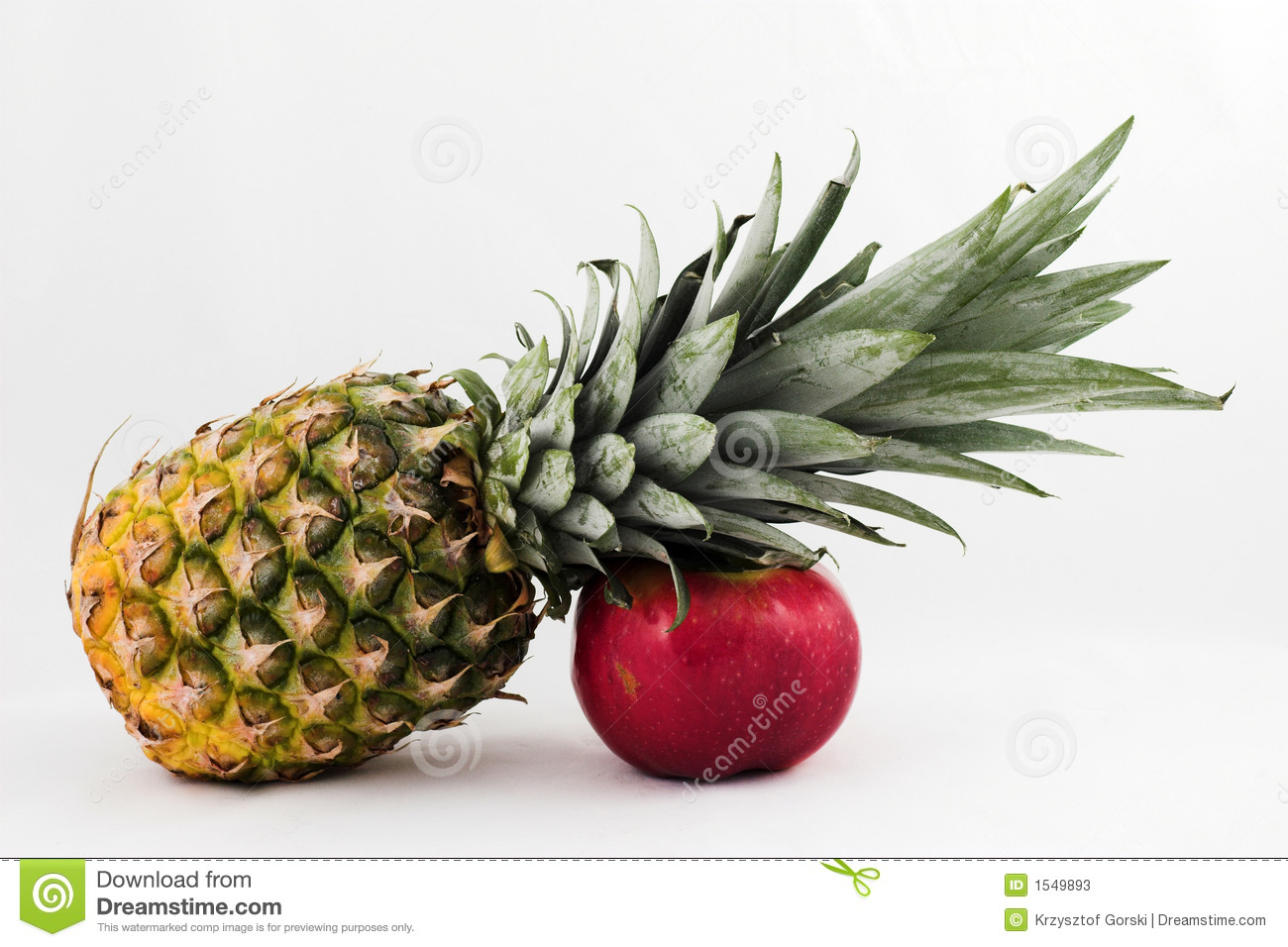 Pineapple And Apple Stock Image Image Of Diet Oeuvre