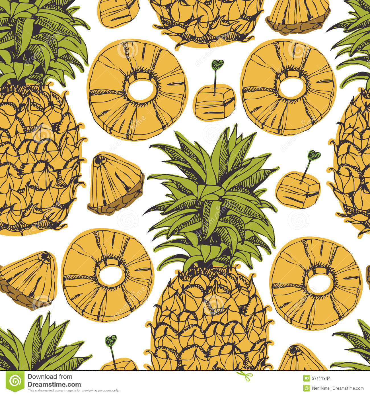 Pineapple Background Stock Images - Image: 37111944