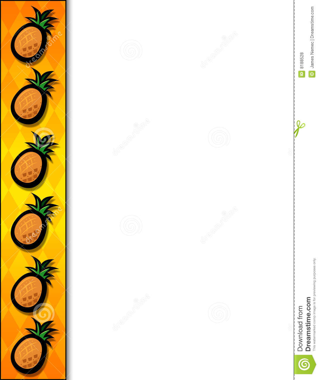 Pineapple Border Stock Illustration Image Of Colorful