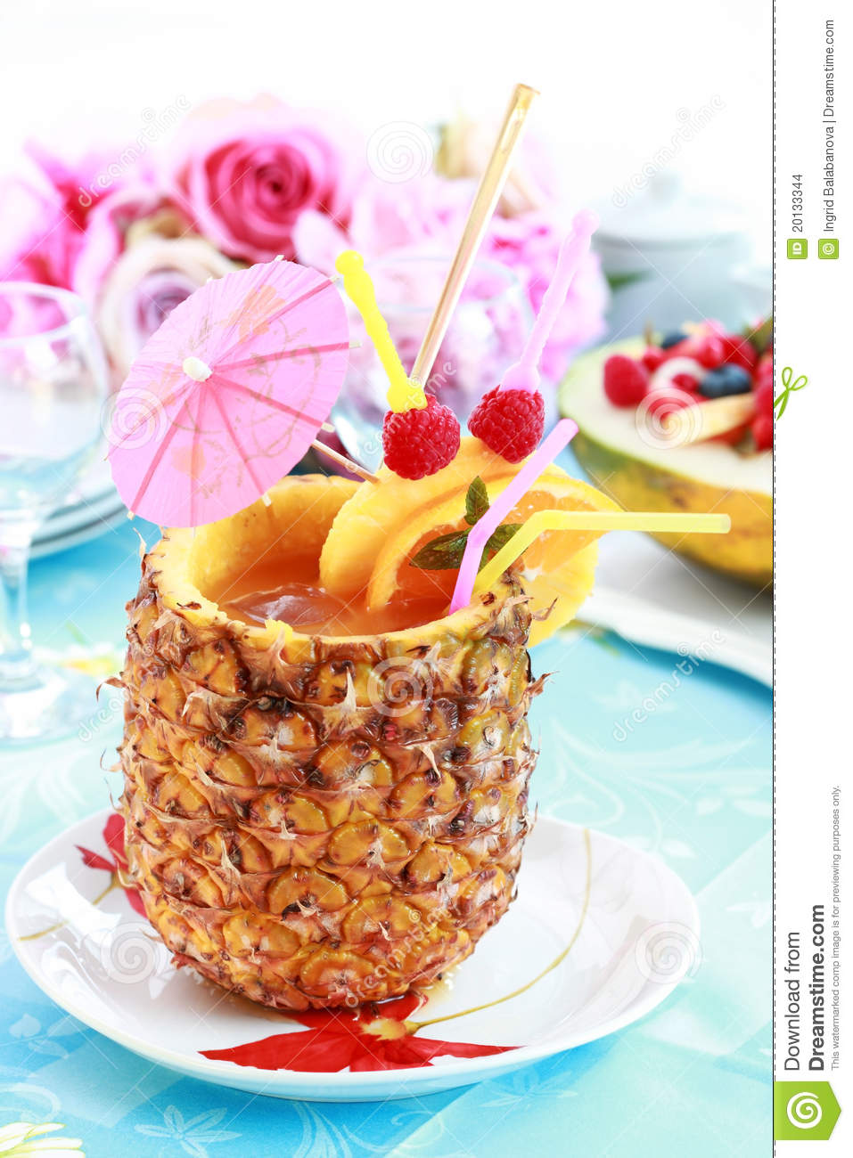Pineapple Drink Stock Images - Image: 20133344