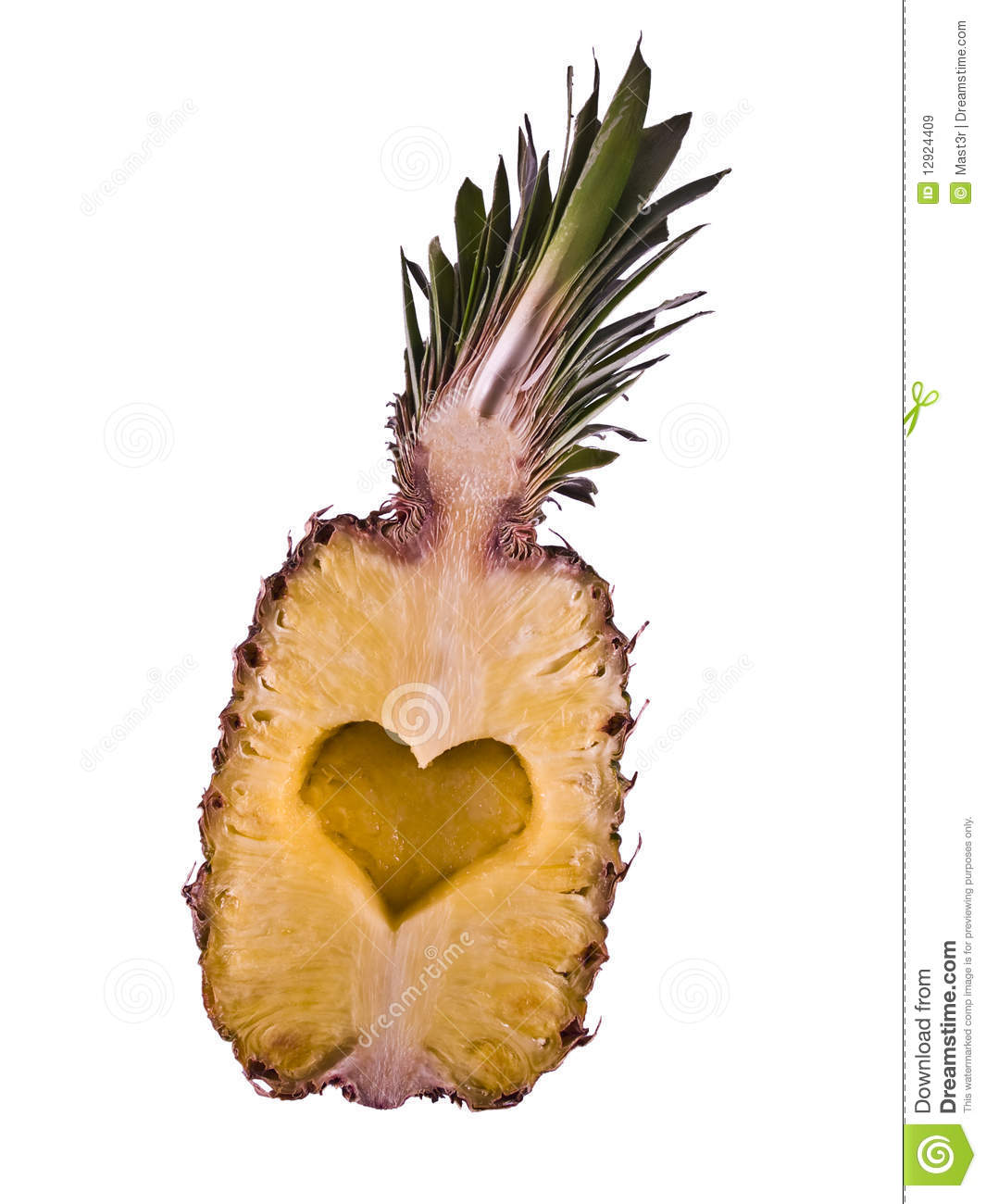 Pineapple Heart Cutted Heart Royalty Free Stock Images ...