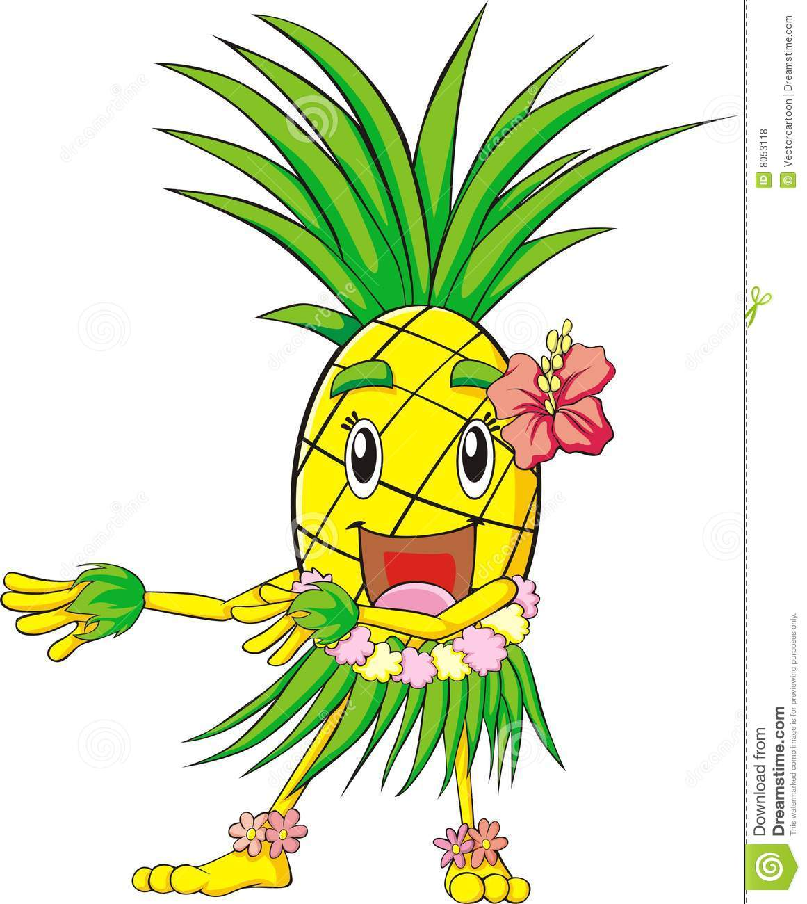 pineapple hula dance royalty free stock photos image 8053118 clipart hula girl hula clip art free printables