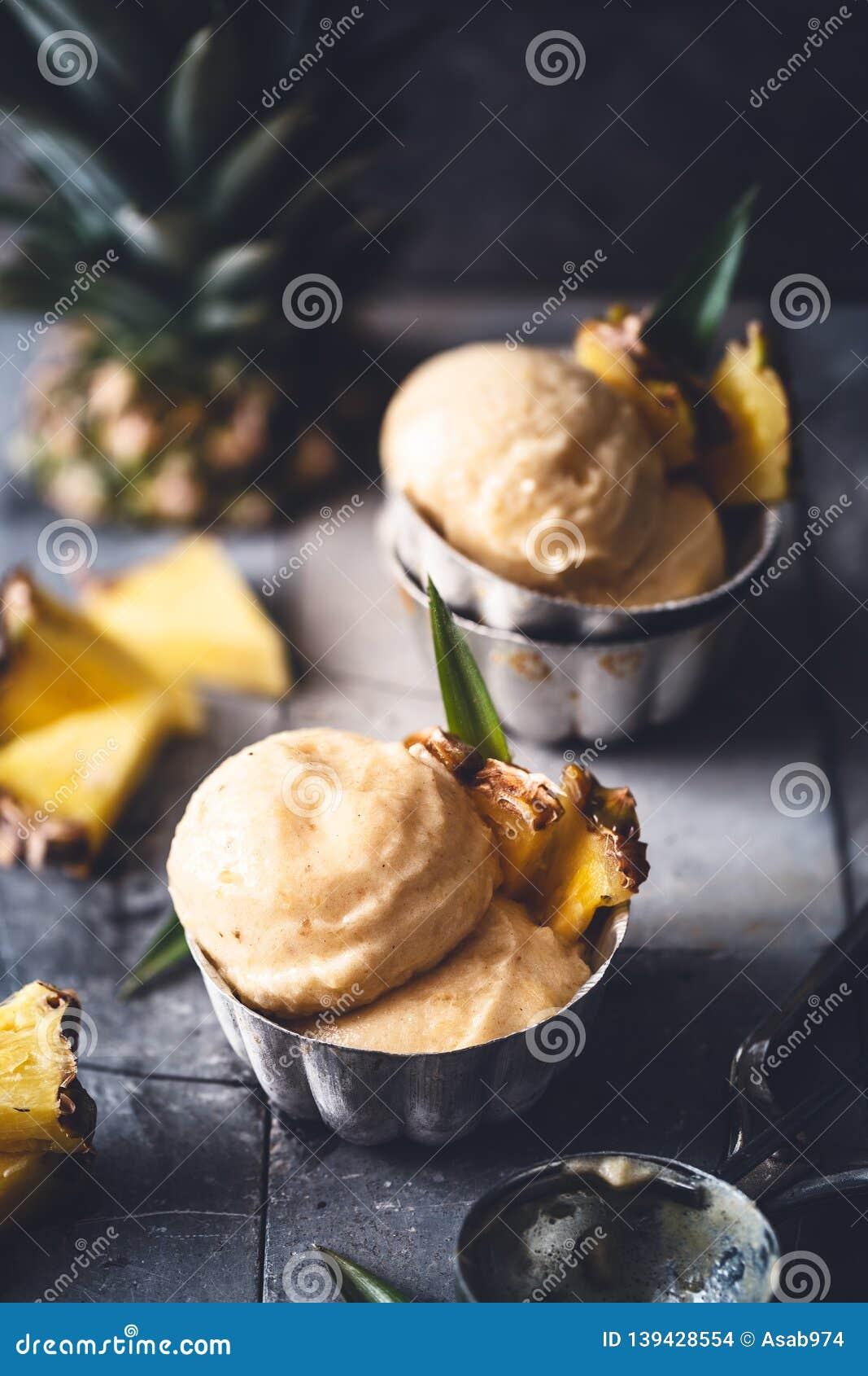 Pineapple Ice Cream for Summer