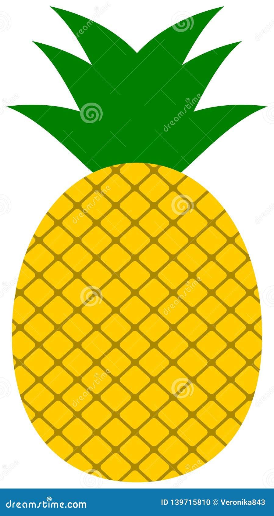 Pineapple Icon. Ananas Clipart Stock Photo - Illustration ...
