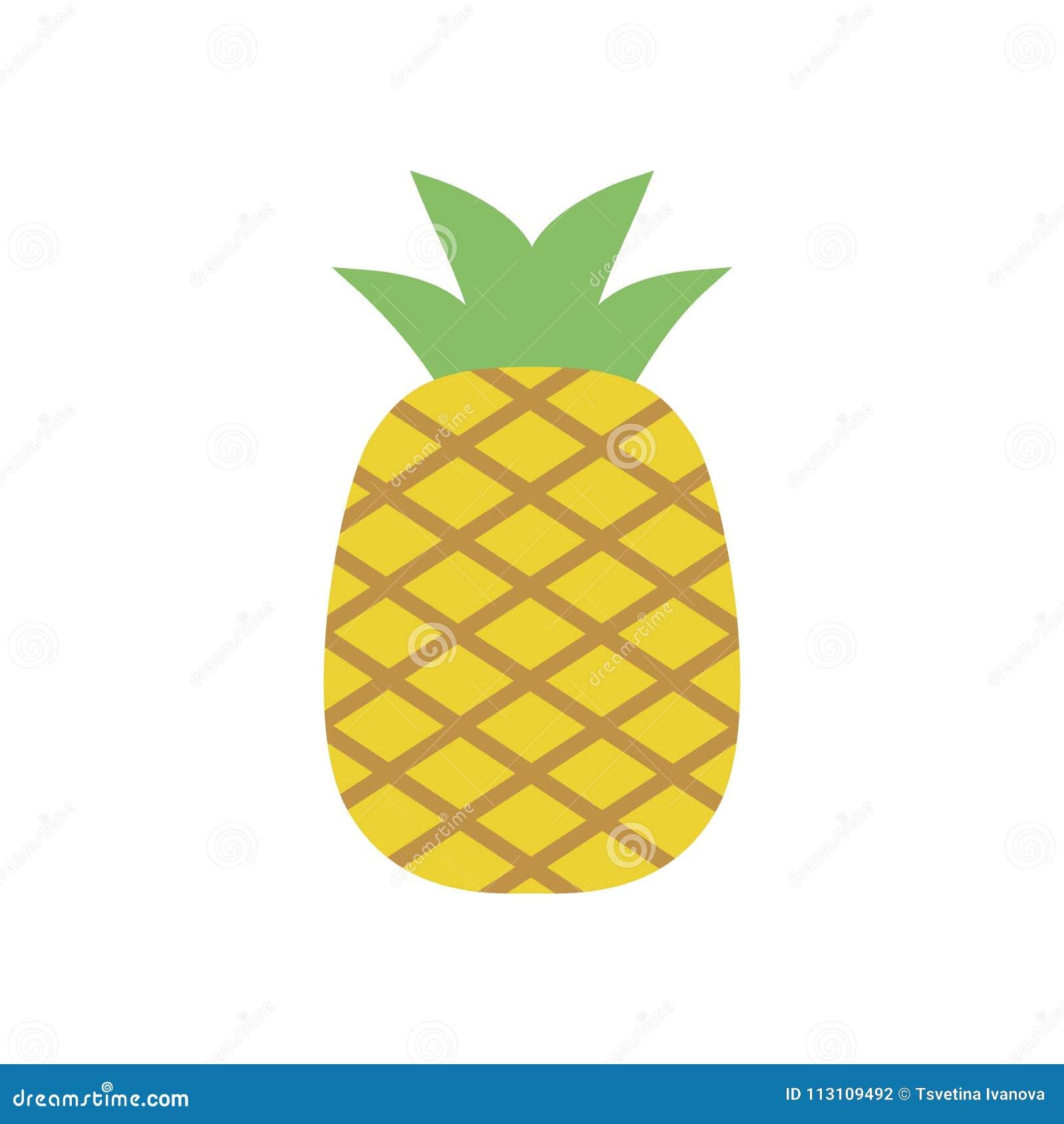 Pineapple Icon, Simple Design, Pineappleicon Clip Art ...